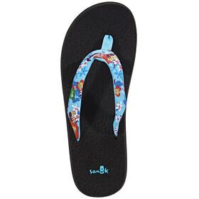 Sanük Yoga Meta Sandals Women Aqua Waikiki Floral